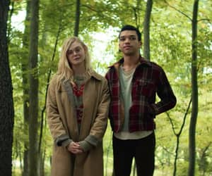 Elle Fanning, justice smith, and couple image