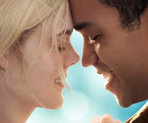 couple, justice smith, and all the bright places image