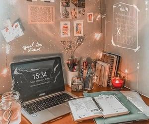 desk, motivation, and love image