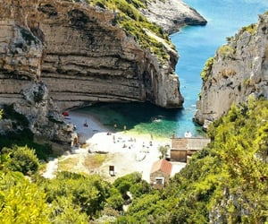 beach, beautiful, and Croatia image