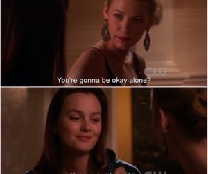 gossip girl, alone, and blair image
