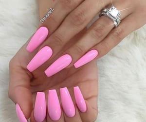 nails, pink, and nailpolish image