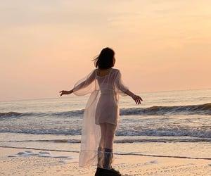 beach, calm, and fashion image