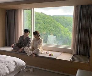 couple, home, and korean image