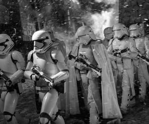 b&w, black and white, and stormtroopers image