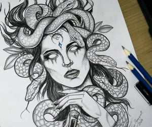 black and white, cobra, and draw image