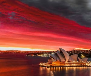 art, night, and sunset image