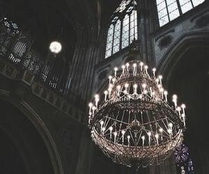 dark, chandelier, and aesthetic image