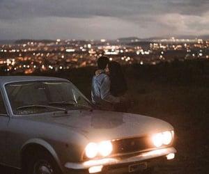 car, hug, and night image