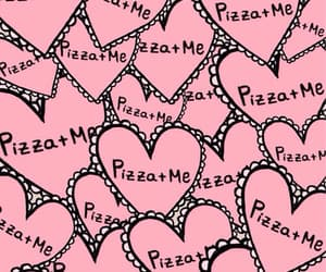 background, pink, and pizza image
