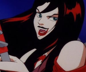 cartoon, red, and hex girls image
