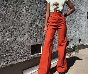 fashion, pants, and red image