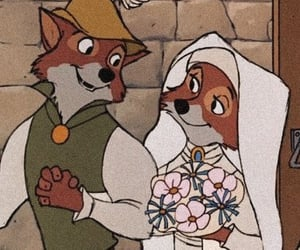 disney, robin hood, and maid marian image