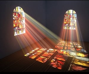 light and stained glass image