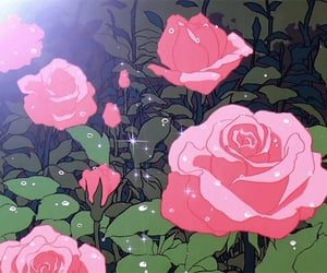 rose, gif, and anime image