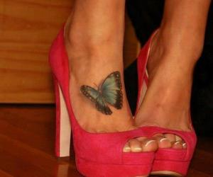 tattoo, shoes, and butterfly image