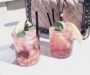 pink, drinks, and summer image