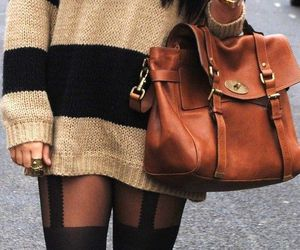 fashion, bag, and sweater image