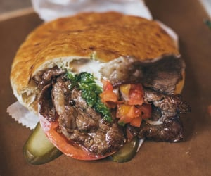 wrap, middle eastern food, and pita bread image