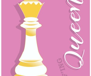 art, Queen, and chess image