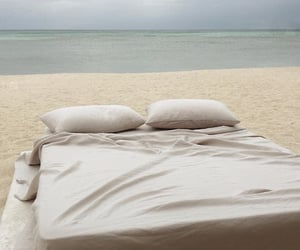beach and bed image