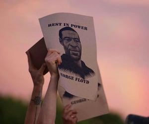 george floyd, justice, and black lives matter image