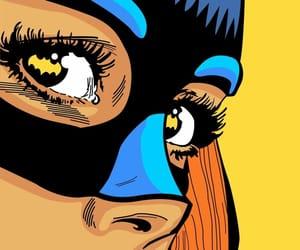 art, girl, and mask image