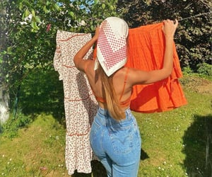 clothes, garden, and scarf image