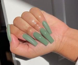 nails, green, and green nails image