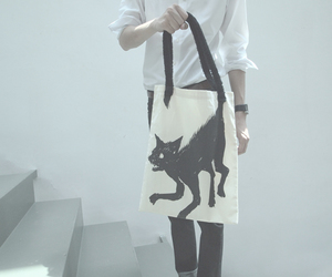 cat, cats, and tote bag image