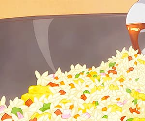 anime, food, and anime gif image