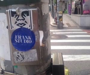 city, sticker, and street image