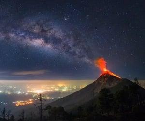 eruption, light, and photo image