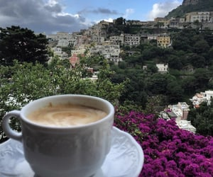 coffee, view, and coffee lover image