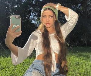 girl, green, and isabellrrose image