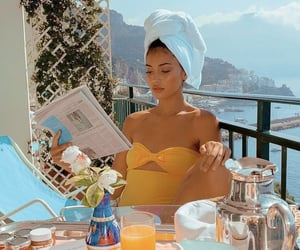 cindy kimberly, model, and breakfast image