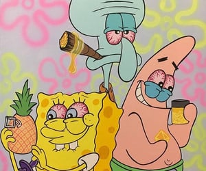 spongebob, weed, and dabs image