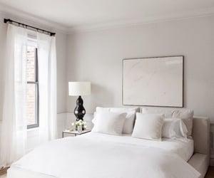bedroom, interior decor, and windows image