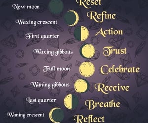 moon phases, spiritual, and wicca image