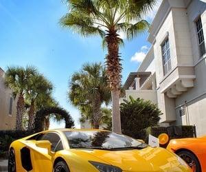 car, yellow, and Lamborghini image