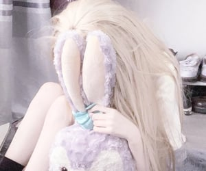 aesthetic, blonde, and doll image