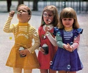 retro, bubbles, and kids image