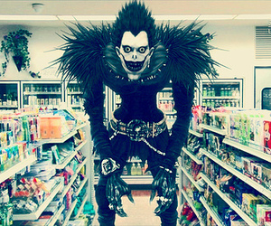 death note, ryuk, and shinigami image