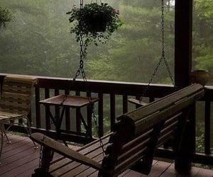 rain, nature, and green image