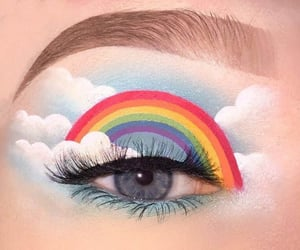 aesthetic, eyes, and palette image