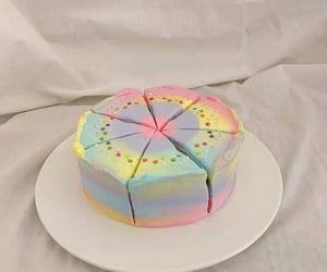 cake, aesthetic, and rainbow image