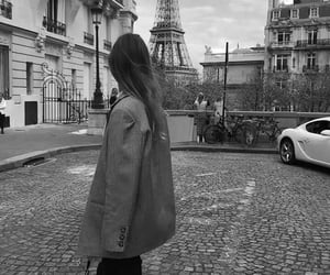 black and white, fashion, and france image