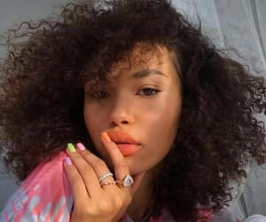 girl, curly hair, and beauty image