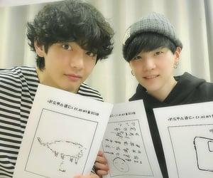 v, yoongi, and kim taehyung image