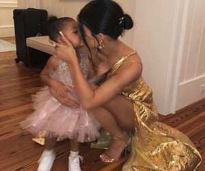 kylie jenner, stormi, and dress image